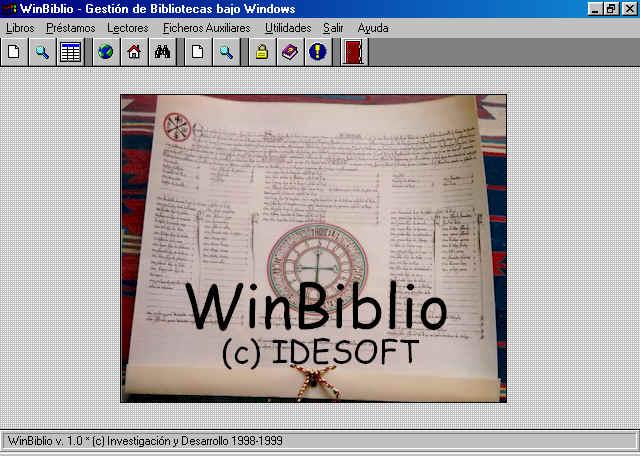 Software WinBiblio 1.0