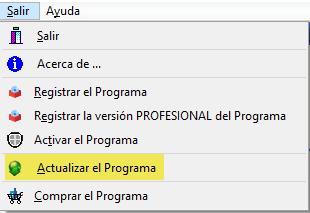 Actualizar programa gestión de bibliotecas