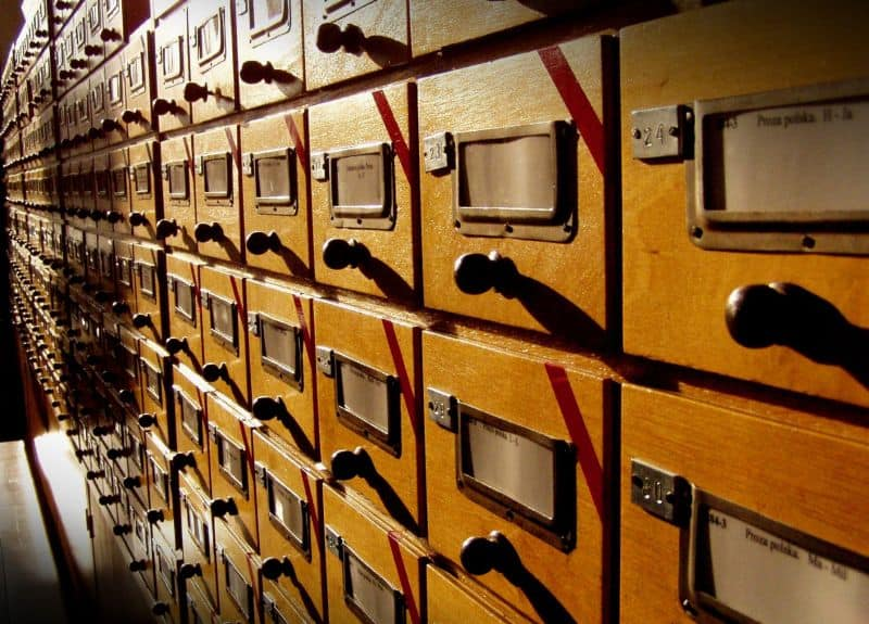 Clasificación bibliográfica materias