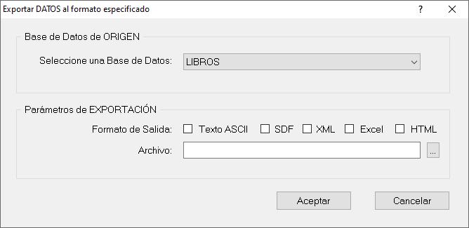 Exportar DATOS programa