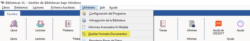 Diseñar Formato Documentos