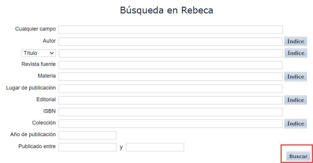 Búsqueda en Rebeca